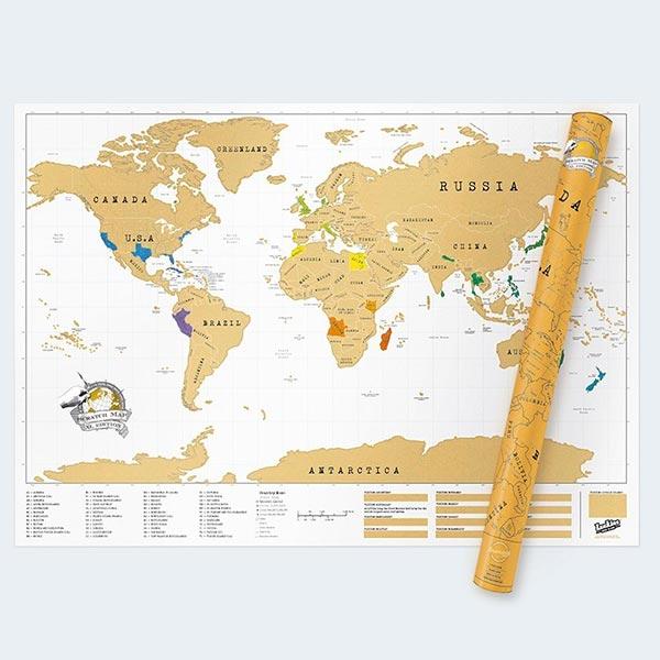 Luckies of London Scratch Map XL - die original Rubbel Weltkarte